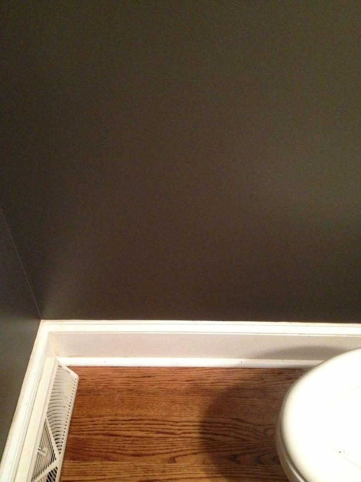Sherwin Williams Urbane Bronze Is Small Powder Room Looks