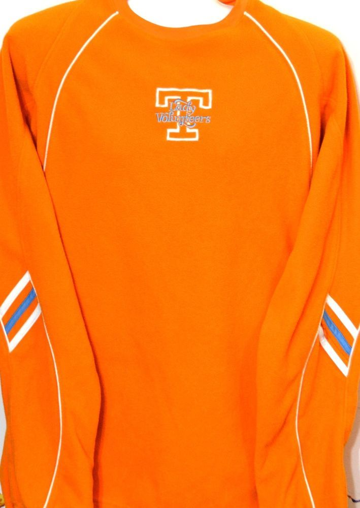 UT Lady Vols Fleece Sweatshirt S Adidas Climawarm TN Basketball Orange Blue #adidas #TennesseeVolunteers