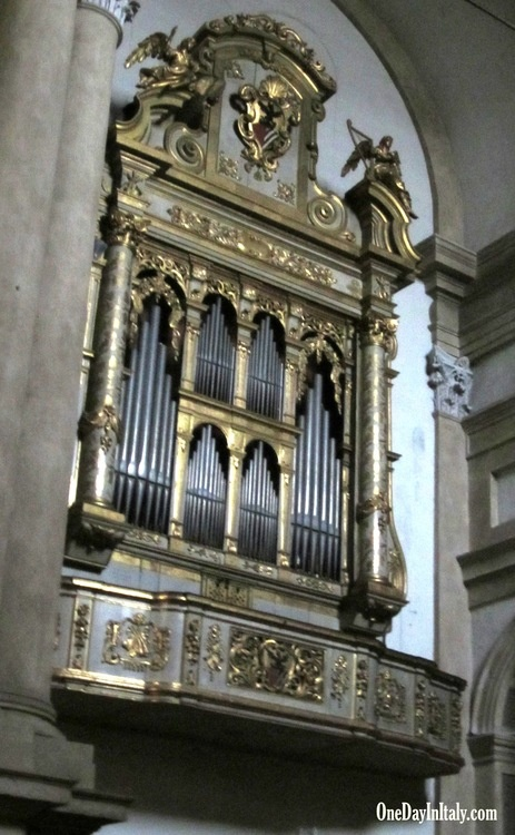 Mozart played this organ in Verona's San Tomaso church when he was 13 years old! www.OneDayInItaly.com