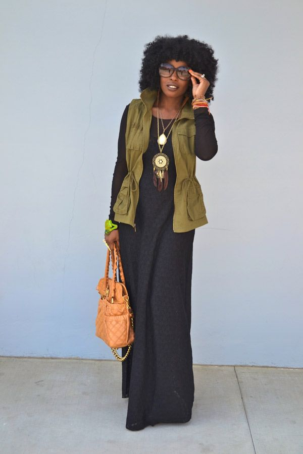 Naturally Fashionable- Lace Maxi Dress   Curly Nikki   Natural Hair Styles and Curly Hair Care