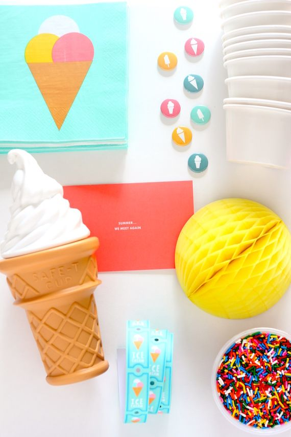 Ice-Cream Party Must-Haves - - National Ice Cream Day Party Idea