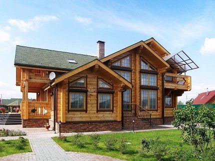 деревянный дом с большими витражными окнами - Поиск в Google