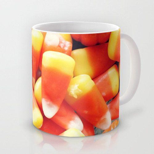 Candy Corn Mug, Autumn Coffee Cup, Halloween Coffee Mug, Candy Corn Tea Mug, Photo Mug, Housewares, Home Decor, Fine Art Photography by whimsycanvas on Etsy