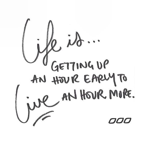 Something I need to work on... Waking up an hour early!