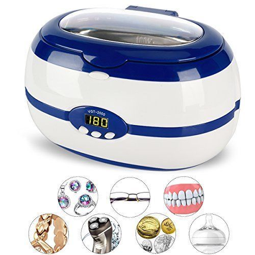 Ultrasonic Cleaner Jewelry Ring Machine Mouth Guard Razors Jewelry Steam Cleaner #JewelrySteamCleaner
