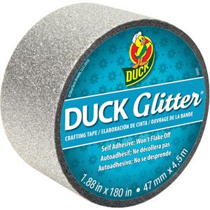 Duck Brand Glitter Tape, Silver, had some of this at Holly Lolly... it was expensive for not much tape :(