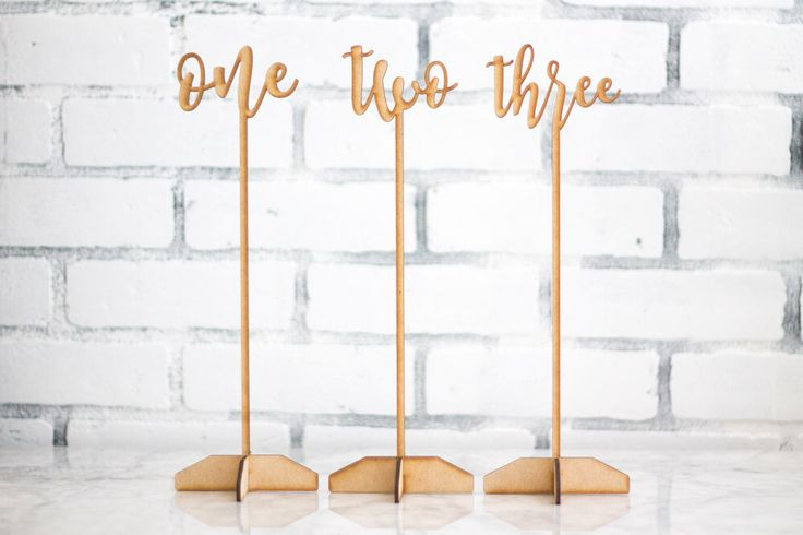 $8 per Wedding Table Numbers with Bases, Script Table Numbers, Rustic Table Numbers, Calligraphy Table Numbers, Wedding Decor, DIY Table Numbers by theDuoStudio on Etsy https://www.etsy.com/listing/454827370/wedding-table-numbers-with-bases-script