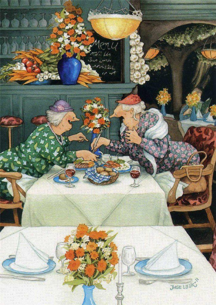 Финские открытки старушки, утро картинки