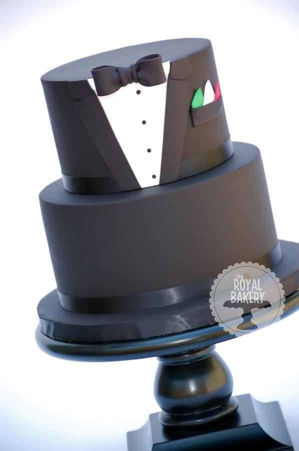 Tuxedo Groom's Cake. Follow us @SIGNATUREBRIDE on Twitter and on FACEBOOK @ SIGNATURE BRIDE MAGAZINE