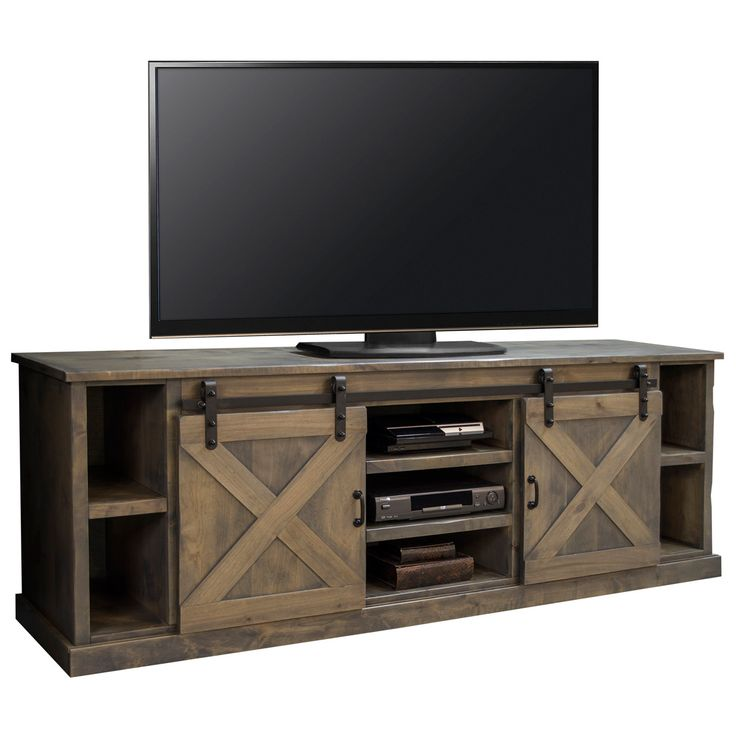 Farmhouse 85 Quot Tv Stand Console In Distressed Barnwood W