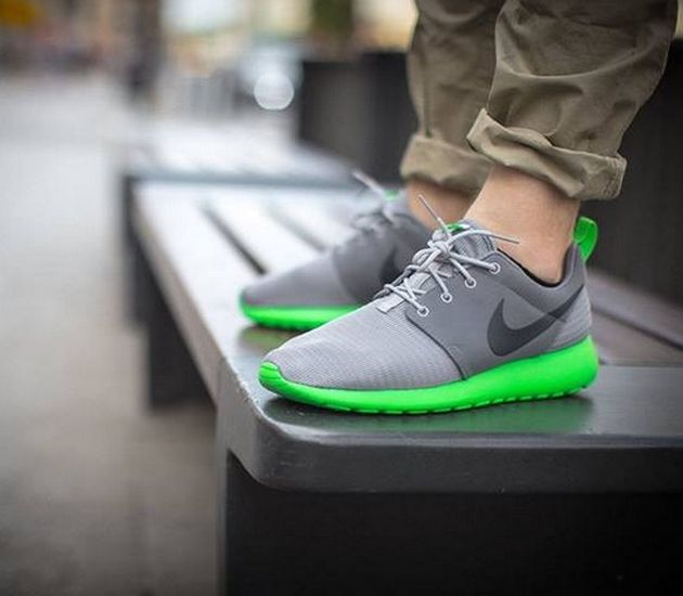 Nike Roshe Run – Wolf Grey / Anthracite – Green