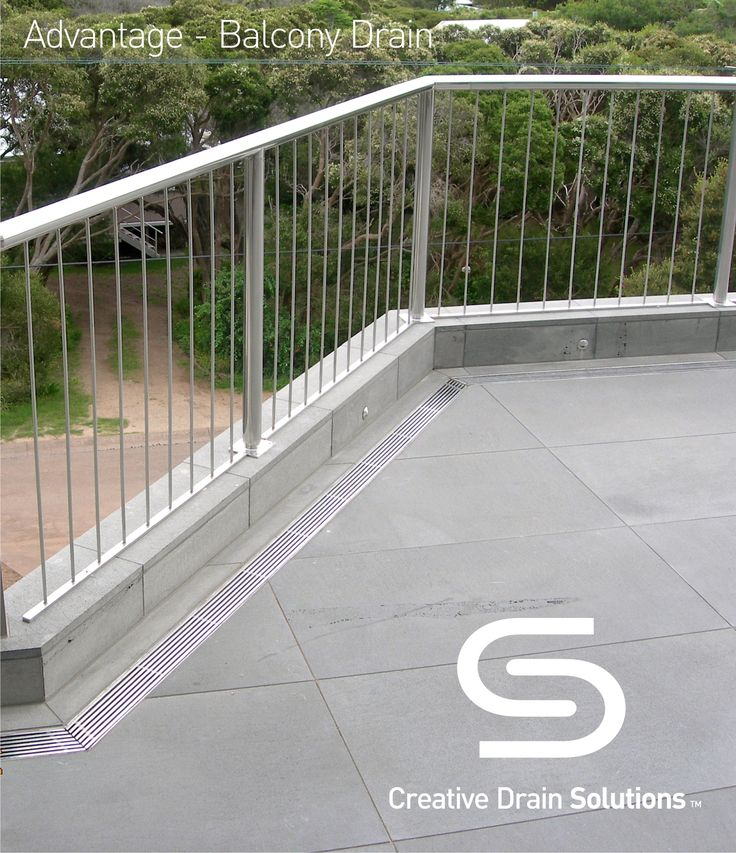 Drain corners were mitred to create an elegant finish for this Balcony Drain with a stainless steel grate