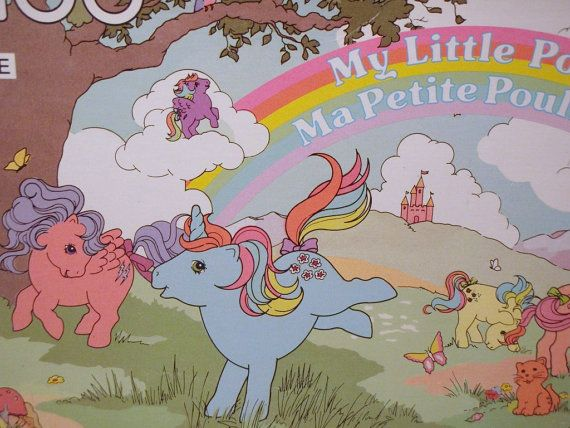 My Little Pony 80s Canadian Ma Petite Pouliche G1 100 Piece Puzzle via Etsy