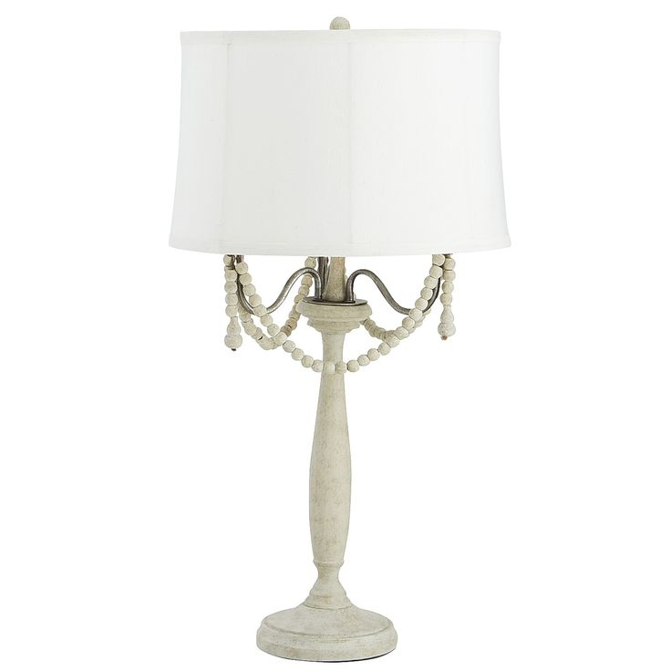 Ivory Mame Chandelier Table Lamp   Linen