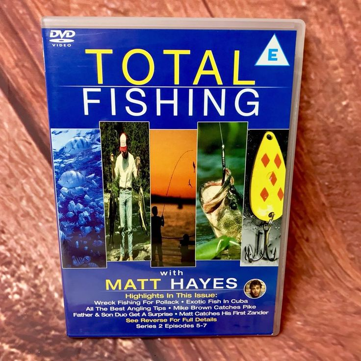 Total Fishing Matt Hayes fishing dvd Series 2 Episodes 5-7 Pollock Carp Zander