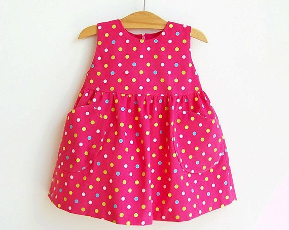 YUMMY Dotted Baby Girl Dress pattern sewing PDF download, Easy Overall, children babies toddler, Girls newborn 3 6 9 12 18 months 1 2 years. $6.00, via Etsy.