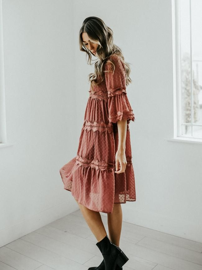 1cfbe502af8 Going Somewhere Dress (Mauve) in 2019
