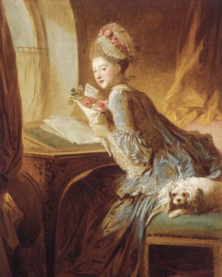 The Love Letter (ca. 1770).Jean-Honoré Fragonard (French, 1732–1806).Oil on canvas.