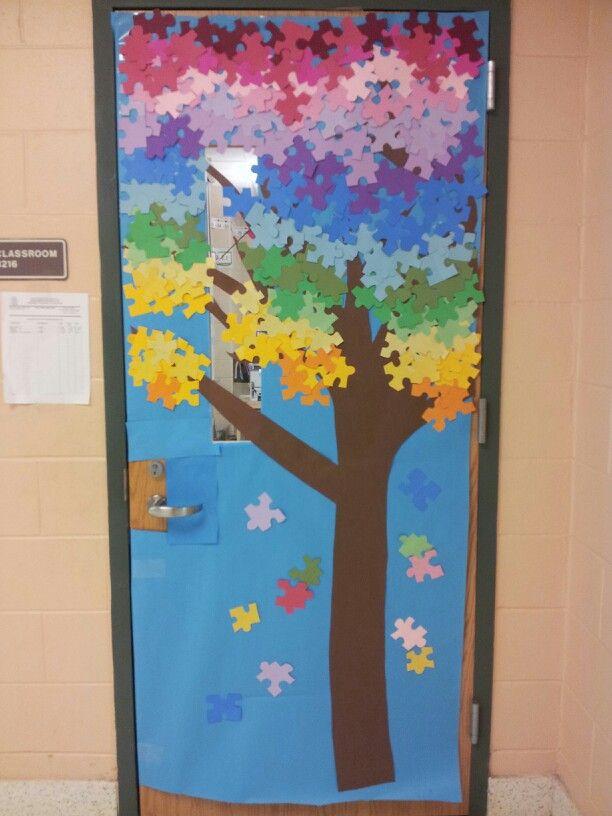 Autism Awareness door | My class crafts, bulletin boards ...