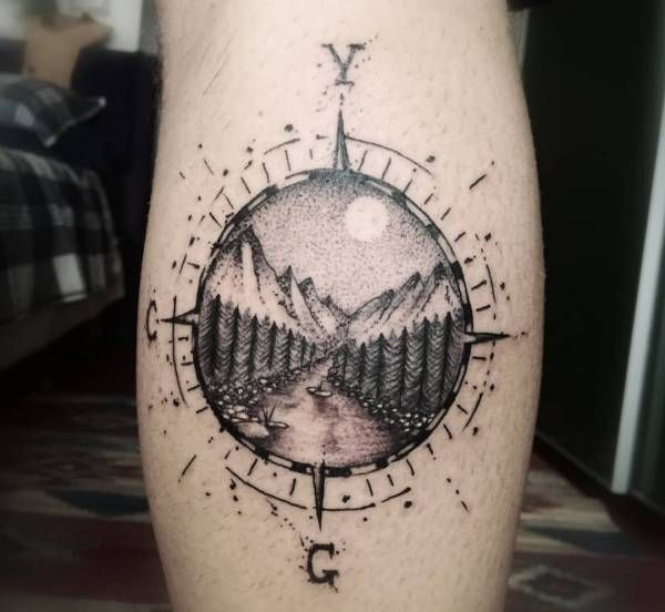 Tatuaż Kompas Znaczenie Historia 40 Zdjęć Pomysł Na