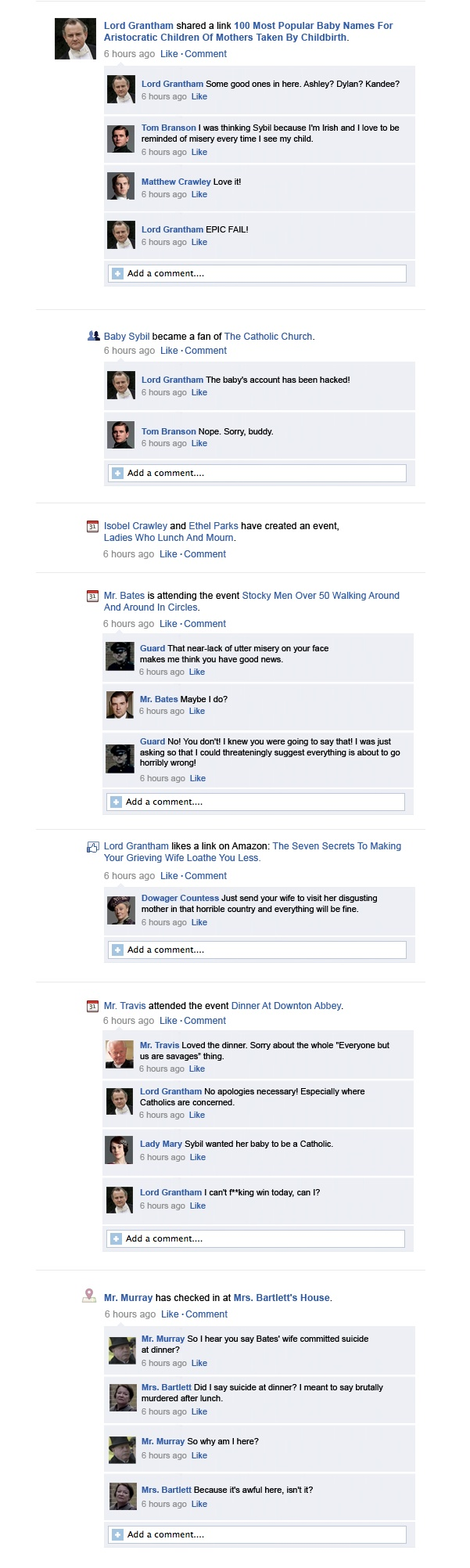 Downton Abbey Facebook Recap Season 3 Episode 5 | Happy Place