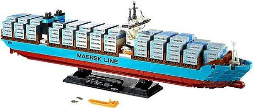 Build the Maersk Triple-E container vessel a true giant of the seas!Presenting the largest ship in the world the record-breaking Maersk Triple-E. Built from over 1500 bricks the model recreates the ...