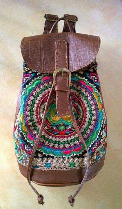 Arabic pattern colorful bag