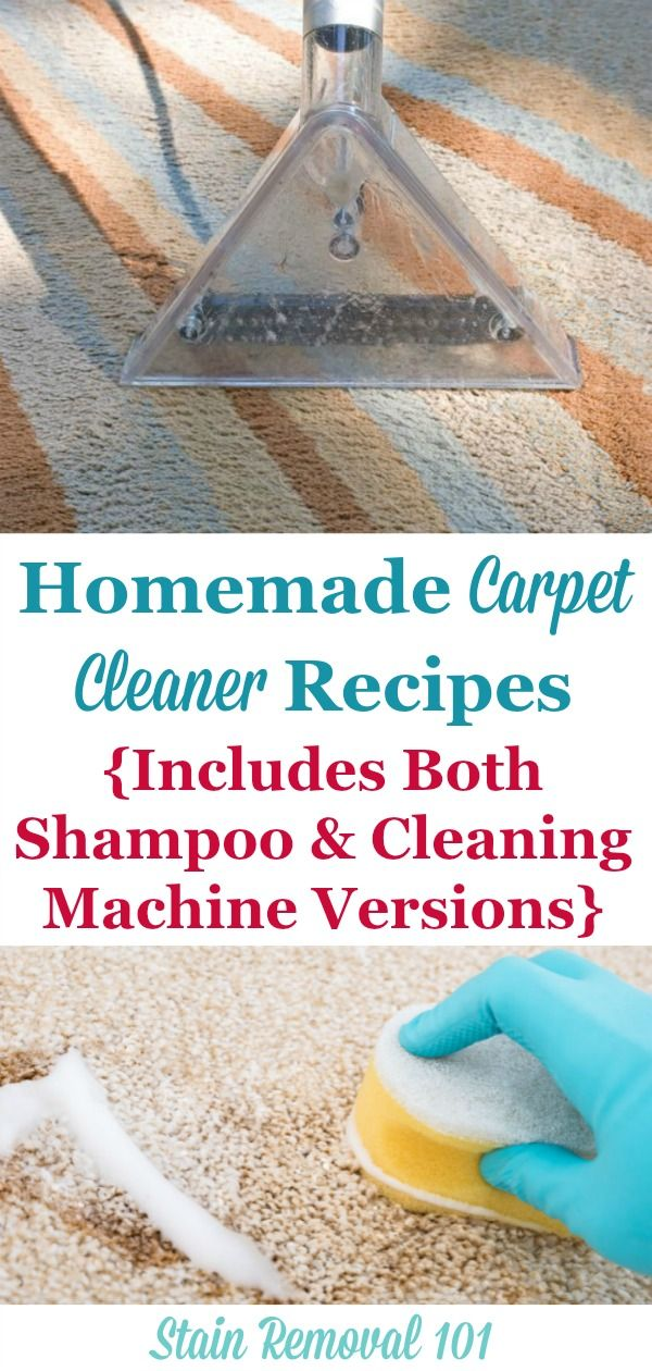 Homemade Carpet Cleaner And Homemade Carpet Shampoo