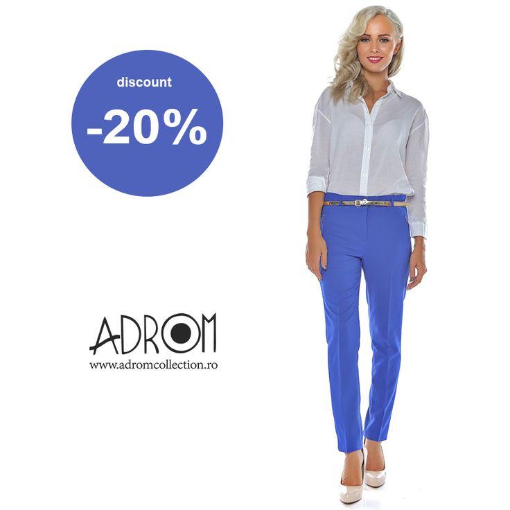 Profită acum de discount-ul de 20% la pantalonii eleganți 2603. Stocul este limitat! Link produs: http://www.adromcollection.ro/742-pantaloni-angro-2603.html