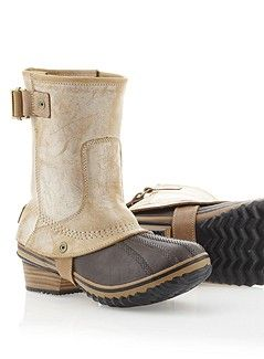 Slimpack Riding Short Sorel Boots. I got these for Christmas, and they are possibly my favorite pair of boots. Amazing!