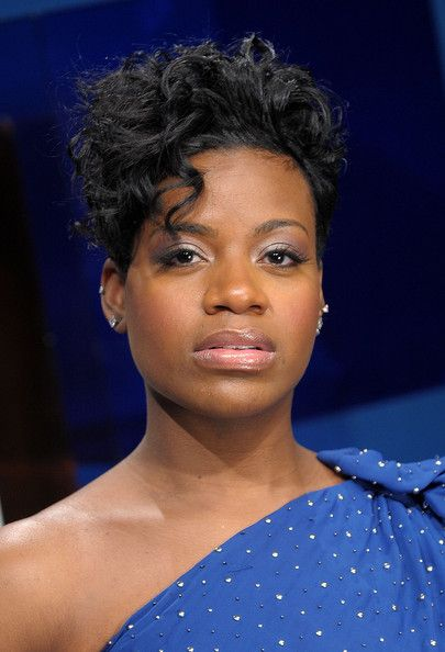 Fantasia Barrino Short Curls  Fantasia Barrino looked edgy with her short curls as she visited the BET Studio.