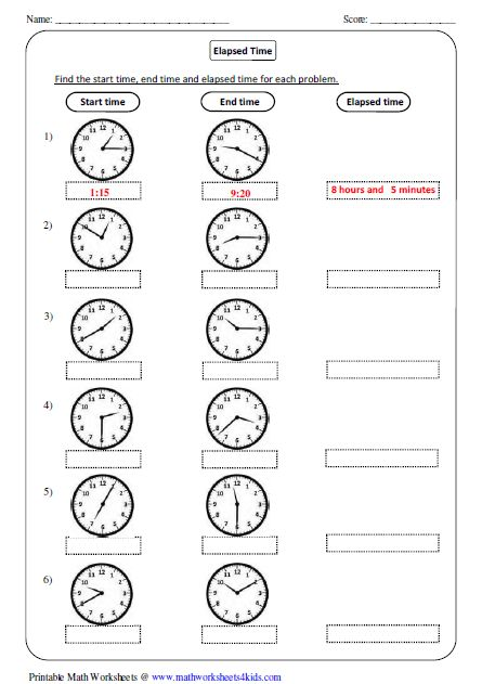 Fair Printable Elapsed Time Worksheets 2nd Grade with