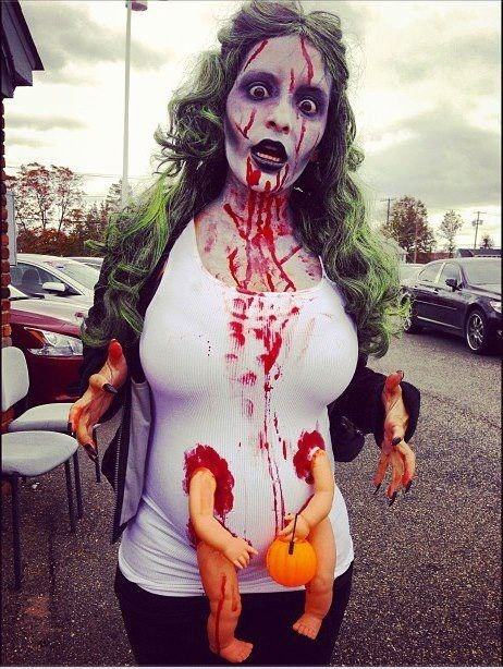 Pregnant zombie- zombie walk idea?
