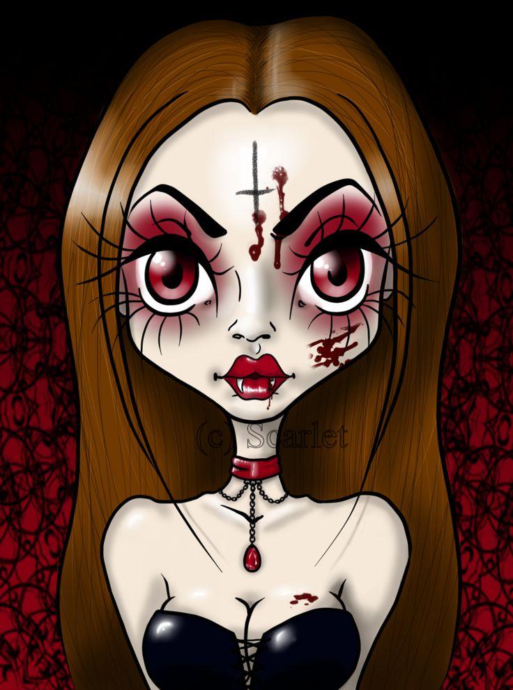 seductive gothic vampire queen