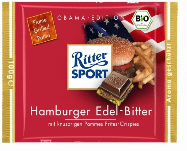 Craving a hamburger? Why not have a chocolate flavored hamburger instead! (btw, this is not a real chocolate favor).