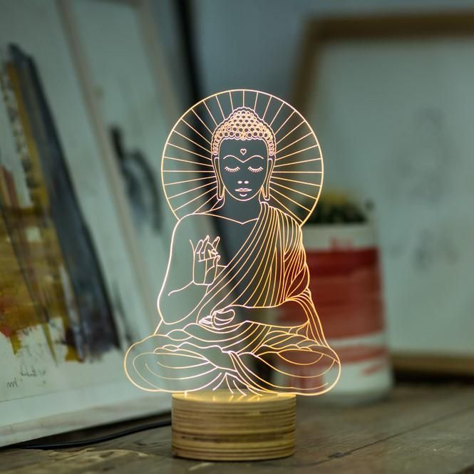 Buddha In 2020 Kleine Tischlampe Led Lampe Led