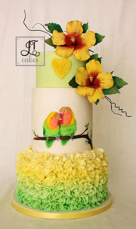 Love Birds Wedding Cake - Cake by JT Cakes