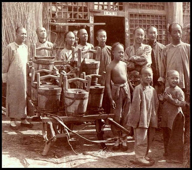 WATERBOYS AND THEIR WHEELBARROW in OLD CHINA by Okinawa Soba, via Flickr