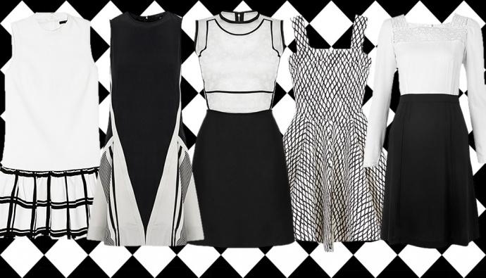Black-n-white dresses spring summer 2013