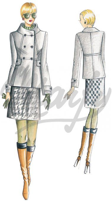 Our Patterns :: Marfy Collection 2010/2011 :: Autumn - Winter :: Sewing pattern 2268 -