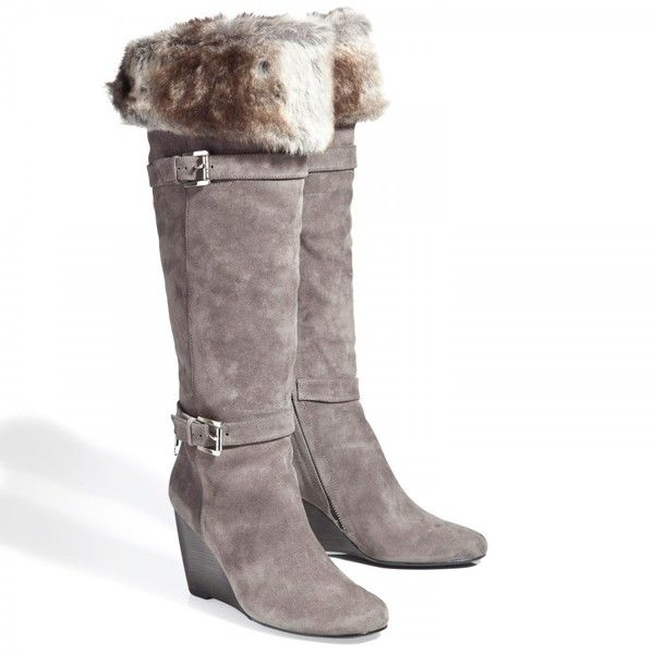 Michael Michael Kors Lara wedge boots with faux fur cuff.  Love this boot, but I don't think I'll be able to wear it in the snow!