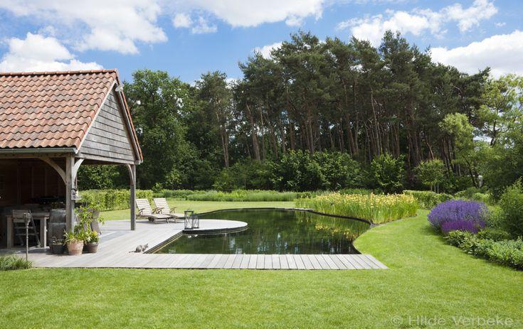 Natuurlijke zwemvijver biozwembad door cools uit essen een droomtuin pinterest swimming - Zwarte pool liner ...