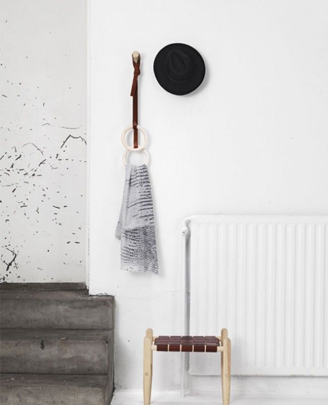 love the simple rings for towel holders
