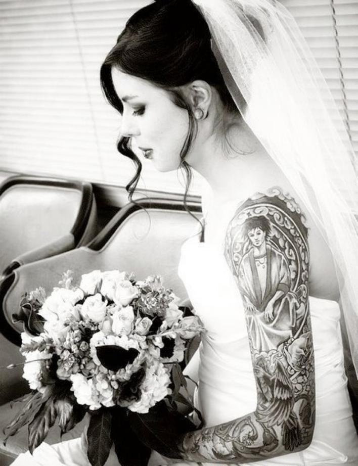 Tell me again how my tattoos won't look good with my wedding dress (that is if I ever decide I want to get married)