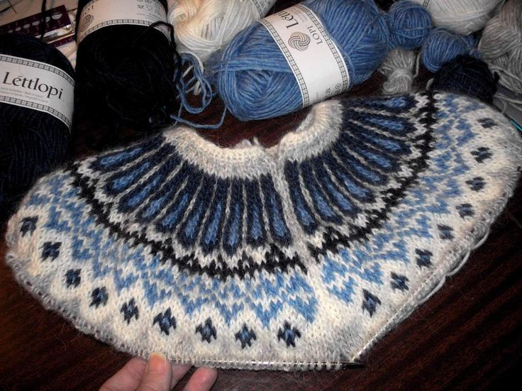 Ginny's Blue Jeans Icelandic Sweater  .....and because I've already knit a lopi sweater using these exact same colors.