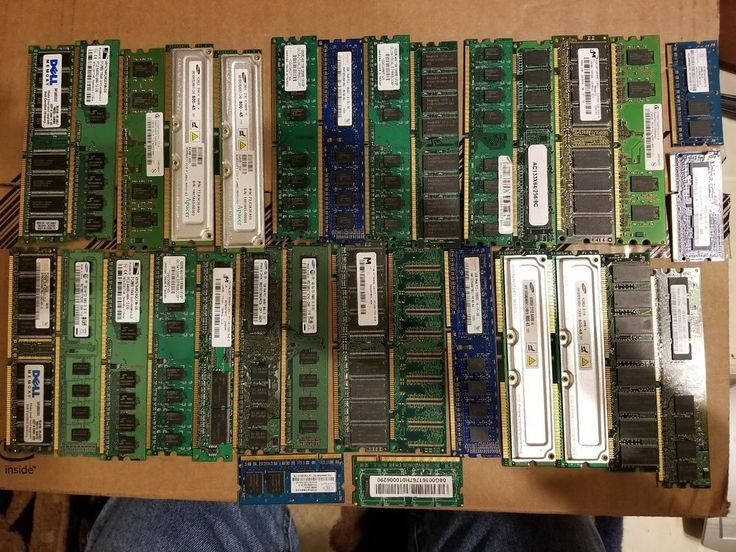 1 lb. Lot of 30 pc & fingers Computer Ram Memory, for scrap gold recovery