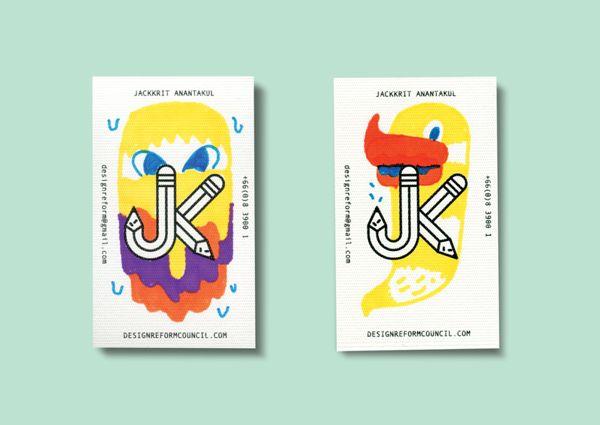Jackkrit's Name Card by Jackkrit Anantakul, via Behance