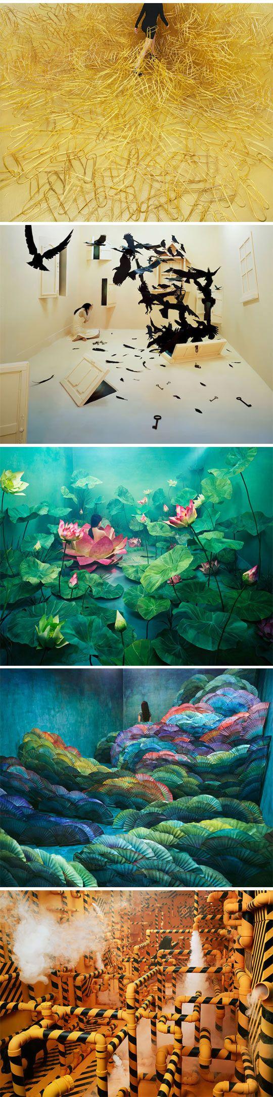 small studio transformed into beautiful dream worlds