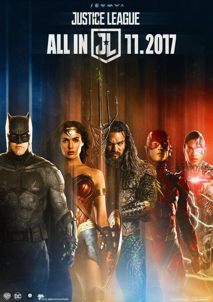 Justice League Movie Poster 2017 Featuring Batman, Wonder Woman, Aquaman, Flash and Cyborg, See all 19 Justice League Movie Easter Eggs and Missed Details - DigitalEntertainmentReview.com