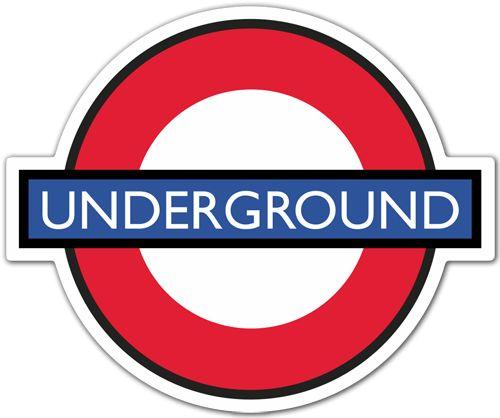 Pegatinas: Underground metro de Londres. Tube. #londres #decoracion #underground #TeleAdhesivo